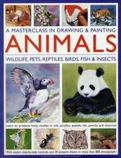 A Masterclass in Drawing & Painting Animals:  Wildlife, Pets, Reptiles, Birds, Fish & Insects