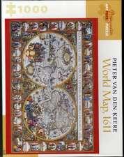 Pieter Van Den Keere World Map 1000-Piece Jigsaw Puzzle  Aa9