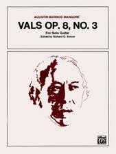 Vals, Op. 8, No. 3: Sheet