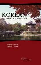 Korean Dictionary & Phrasebook:  Korean-English/English-Korean