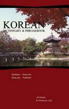 Korean-English/English-Korean Dictionary & Phrasebook