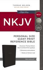 NKJV, Reference Bible, Personal Size Giant Print, Leathersoft, Black, Red Letter Edition, Comfort Print