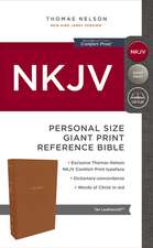 NKJV, Reference Bible, Personal Size Giant Print, Leathersoft, Tan, Red Letter Edition, Comfort Print