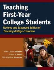 Teaching First–Year College Students