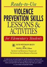 Ready–to–Use Violence Prevention Skills Lessons and Activities for Elementary Students