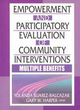 Empowerment & Participatory Evaluation of Community Interventions