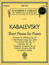 Short Pieces for Piano: Schirmer Library of Classics Volume 2036 Piano Solo