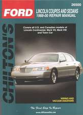 Lincoln Coupes and Sedans, 1988-00
