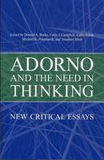 Adorno and the Need in Thinking