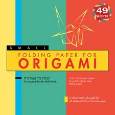 """Folding Paper for Origami - Small 6 3/4"""" - 49 Sheets: Tuttle Origami Paper: High-Quality Origami Sheets Printed with 6 Different Colors: Instructions for 6 Projects Included"""