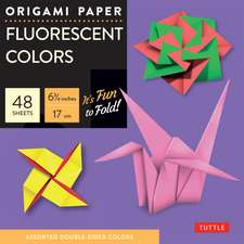 "Origami Paper - Fluorescent Colors - 6 3/4"" - 48 Sheets: Tuttle Origami Paper: High-Quality Origami Sheets Printed with 6 Different Colors: Instructions for 6 Projects Included"