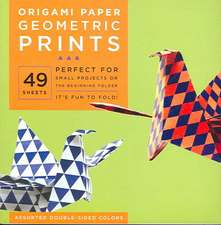 "Origami Paper - Geometric Prints - 6 3/4"" - 49 Sheets: Tuttle Origami Paper: High-Quality Origami Sheets Printed with 6 Different Patterns: Instructions for 6 Projects Included"