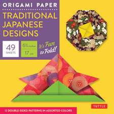 "Origami Paper - Traditional Japanese Designs - Small 6 3/4"": Tuttle Origami Paper: 48 High-Quality Origami Sheets Printed with 12 Different Patterns: Instructions for 6 Projects Included"