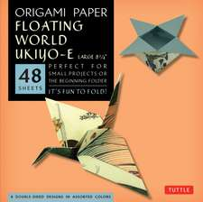 """Origami Paper - Floating World Prints - 8 1/4"""" - 48 Sheets: Tuttle Origami Paper: High-Quality Large Origami Sheets Printed with 8 Different Designs: Instructions for 6 Projects Included"""