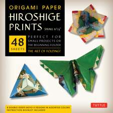 "Origami Paper - Hiroshige Prints - Small 6 3/4"" - 48 Sheets: Tuttle Origami Paper: High-Quality Origami Sheets Printed with 8 Different Designs: Instructions for 6 Projects Included"