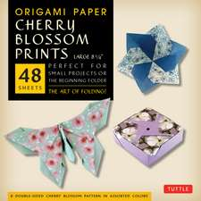 """Origami Paper- Cherry Blossom Prints Large- 8 1/4"""" 48 sheets: Tuttle Origami Paper: High-Quality Origami Sheets Printed with 8 Different Patterns: Instructions for 5 Projects Included"""