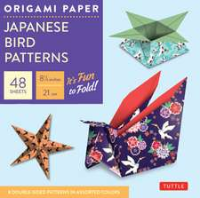 """Origami Paper - Japanese Bird Patterns - 8 1/4"""" - 48 Sheets: Tuttle Origami Paper: High-Quality Origami Sheets Printed with 8 Different Designs: Instructions for 7 Projects Included"""