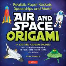 Air and Space Origami Kit: Realistic Paper Rockets, Spaceships and More! [Kit with Origami Book, Folding Papers, 185+ Stickers]