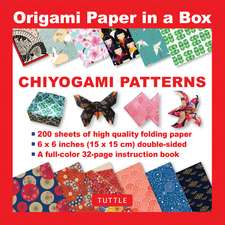 Origami Paper in a Box - Chiyogami Patterns: 200 Sheets of Tuttle Origami Paper: 6x6 Inch High-Quality Origami Paper Printed with 12 Different Patterns: 32-page Instructional Book of 12 Projects