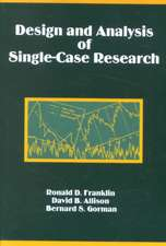 Design and Analysis of Single-Case Research
