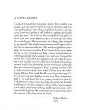 A Little Ramble – In the Spirit of Robert Walser