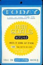 Mini Goals Notepad