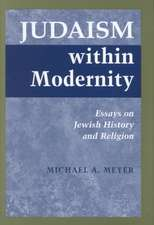 Judaism Within Modernity:  Essays on Jewish Historiography and Religion