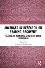 Advances in Research on Reading Recovery