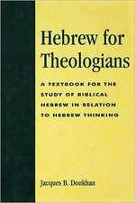 Hebrew for Theologians