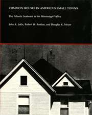 Common Houses in America's Small Towns:  The Atlantic Seaboard to the Mississippi Valley