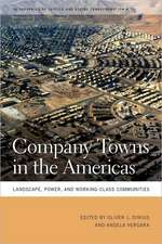 Company Towns in the Americas:  Landscape, Power, and Working-Class Communities