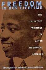 Freedom In Our Lifetime: The Collected Writings Of Anton Muziwakhe Lembede