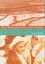Rural Resistance in the Land of Zapata:  The Jaramillista Movement and the Myth of the Pax Priista, 1940-1962