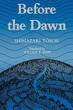 Shimazaki:  Before the Dawn Paper