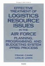 Effective Treatment of Logistics Resource Issues in the Air Force Planning, Programming, and Bugeting System (PPBS) Process