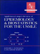 Appleton and Lange's Review of Epidemiology and Biostatistics for the USMLE