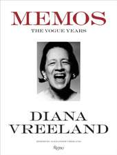 Diana Vreeland Memos the Vogue Years:  Classical Architect
