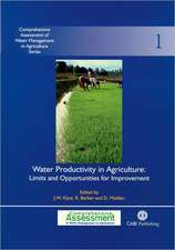 Water Productivity in Agriculture:  Limits and Opportunities for Improvement