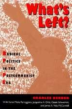 What's Left:  Radical Politics in the Postcommunist Era