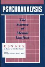 Psychoanalysis:  The Science of Mental Conflict