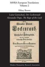 Luise Gottsched, 'Der Lockenraub' / Alexander Pope, 'The Rape of the Lock'
