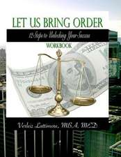 Let Us Bring Order Workbook