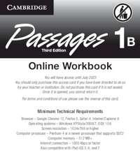 Passages Level 1 Online Workbook B Activation Code Card