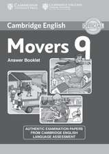 Cambridge English Young Learners 9 Movers Answer Booklet: Authentic Examination Papers from Cambridge English Language Assessment