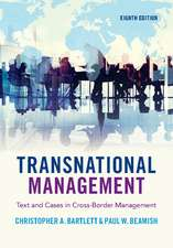 Transnational Management  : Text and Cases in Cross-Border Management