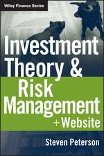 Investment Theory and Risk Management: + Website