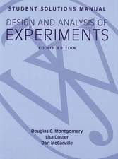 Design and Analysis of Experiments Student Solutions Manual:  Performing Youth Identities in French Cites