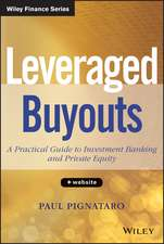 Leveraged Buyouts: A Practical Guide to Investment Banking and Private Equity + Website