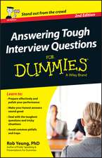 Answering Tough Interview Questions For Dummies – UK