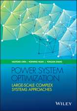 Power System Optimization: Large–scale Complex Systems Approaches